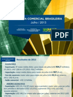 MDIC - BALANÇA COMERCIAL - JULHO 2013