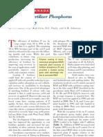 2002. Improving Fertilizer Phosphorus Use Efficiency