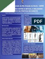 Pôster. Ramon Rebouças e Ailton Siqueira. GT 33. As aproximações entre o mítico, o religioso e o jurídico na prática do direito.