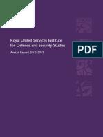 RUSI ANNUAL REPORT 2012-13