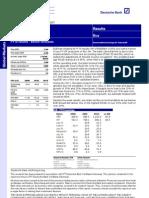 BJBR FY10 Results Below Forecast 11 Mar 2011 DB