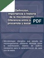 Definición, importancia e historia de la microbiología