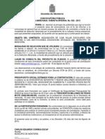 CONVOCATORIA PÚBLICA SILLAS ESCOLARES 2013 nuevo