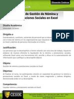 Curso de Gestion de Nomina y Prestaciones Sociales en Excel