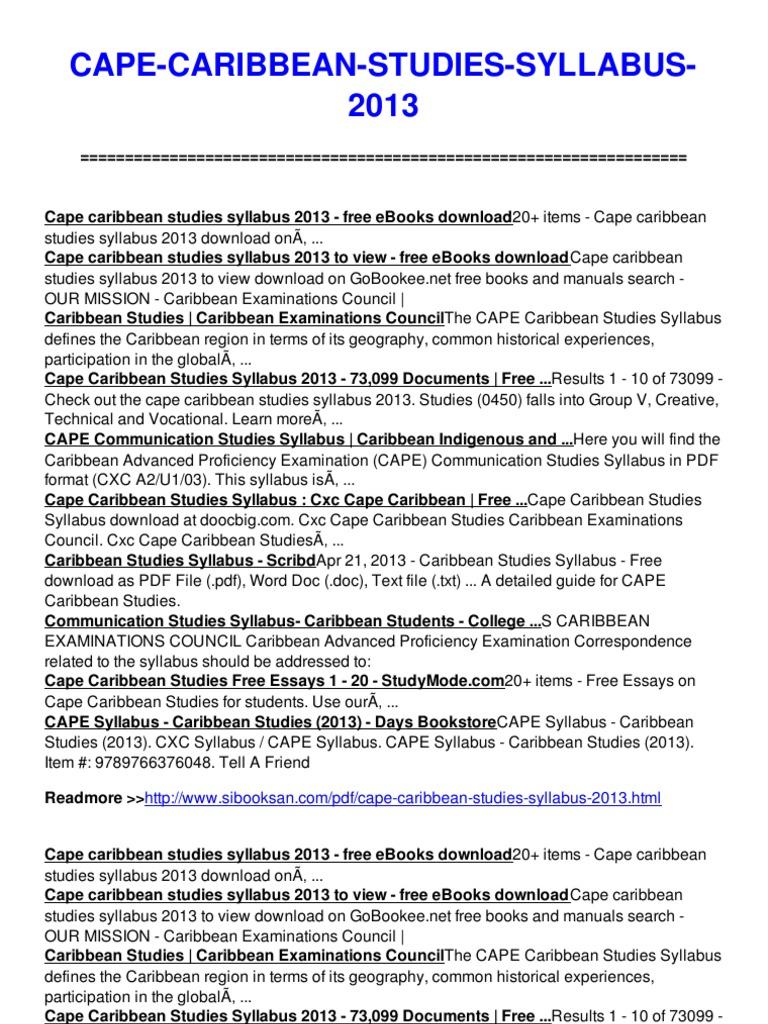 cape caribbean studies 2015-04-26 cape caribbean studies study guide pdf cape caribbean studies study guide pdf cape caribbean studies study guide pdf download direct download cape caribbean studies study guide pdf caribbean studies table of contents study.