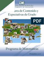 Estandares y Expectativas Matematicas
