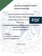 El Proceso Como Procedimiento Cientifico 1 (t 2)