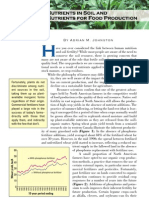 2003. Nutrients in Soil and Nutrients for Food Production