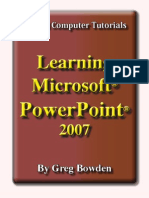 Learning Microsoft Powerpoint