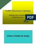 Clima (Factores e Elementos