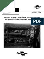MANUAL DE CRIAÇÃO DE GALINHA CAIPIRA - EMBRAPA
