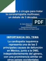 Análisis comparativo de angioplastía vs cirugía ECMV P.P..ppt