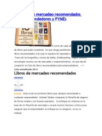 10 Libros de Mercadeo Recomendados Para Emprendedores y PYMEs