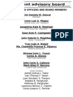 SAB Officers SY 2013-2014