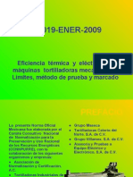 NOM-019-ENER-2009