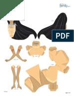 Pocahontas Princess Papercraft Printable 0412