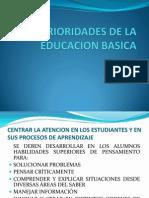 Prioridades de La Educacion Basica