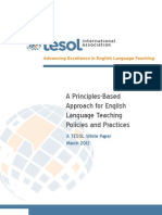 A Principles Based Approach for English Language Teaching Policies and Practices