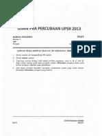 UPSR Percubaan 2013 Pahang Bahasa Inggeris Kertas 1
