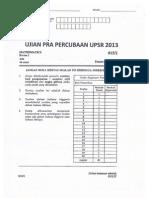 UPSR Percubaan 2013 Pahang Matematik Kertas 2