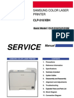 Samsung Color Laser Printer CLP 510 510N Parts and Service Manual