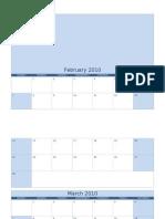 Calendar Template 2010