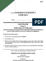 UPSR Percubaan Terengganu 2013 Matematik 1