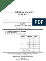 UPSR Percubaan Terengganu 2013 Sains