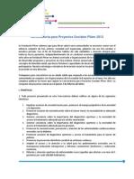 Convocatoria Para Proyectos Sociales Basespfzer 2013
