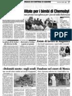 Corriere delle Alpi 05/06/2009
