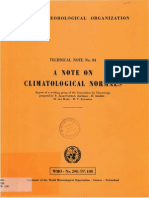 A Note of Clyimalogical Normals - WMO-208