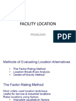Problem in Faciltity Location