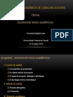 (Versão de Apresentação) Oficina, VIII Sacs. Escrita acadêmica. Parte 1.pptx