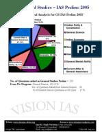 Statistical Analysis Ias General Studies Prelim 2005
