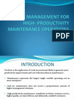 Work Management for High- Productivity Maintenance Operations