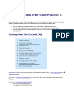 Overhead in Sales Costing