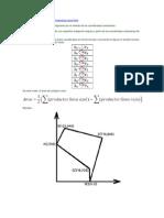 Calcular áreas de polígonos irregulares por el método de las coordenadas cartesianas