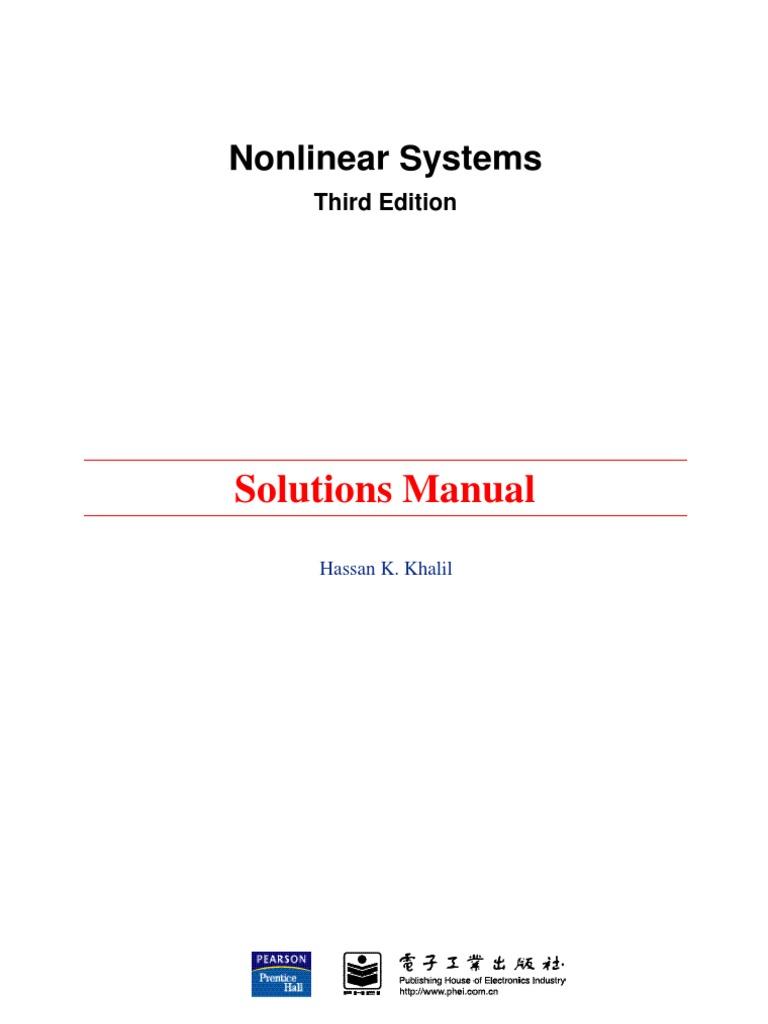 solution manual for khalil 3rd edition rh scribd com