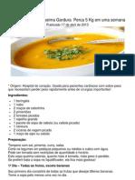 Receita de Sopa Queima Gordura Perca 5 Kg Em Uma Semana