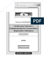 Clasificacion Vehicular Mtc 2013