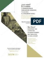 Quo Vadis Reclutamiento y Contratacion de Trabajadores Migrantes y Su Acceso a La Seguridad Social