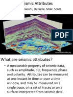 Seismic Attributes