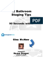Home Staging Tips - 12 Bathroom Staging Tips by Gina McNew