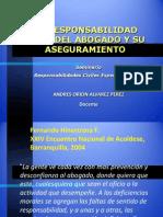 ALVAREZ, Andrés. La responsabilidad civil del abogado