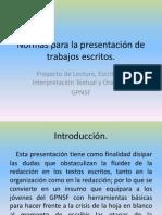 Normas para la presentación de trabajos escritos 2.0 b