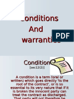 conditions and warranties ppt