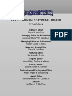 PEB Editorial Board SY 2013-2014