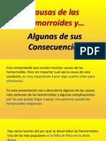 Causas de Las Hemorroides - Algunas de sus Consecuencias