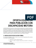 Oferta Educativa Motora