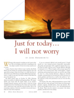 Reiki Principles - Just For Today I Will Not Worry